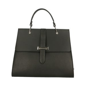 Černá kožená kabelka Roberto Buono Quadra