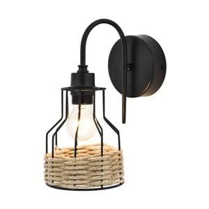 Černé nástěnné svítidlo Avoni Lighting Cage