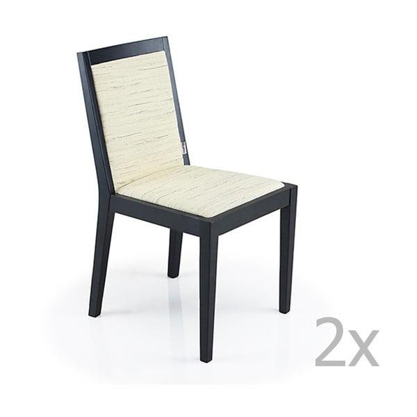 Sada 2 bílých židlí Garageeight Arstadal