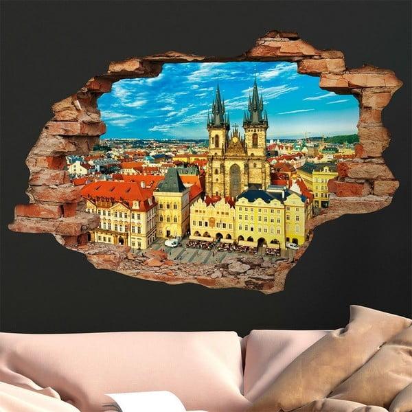 3D samolepka na zeď Ambiance Praha, 90x60cm