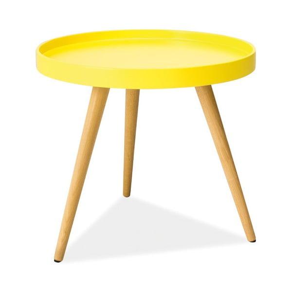 Konferenční stolek Toni 50 cm, žlutý