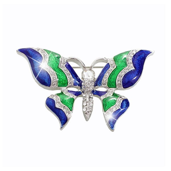 Brož se Swarovski Elements Laura Bruni Butterfly
