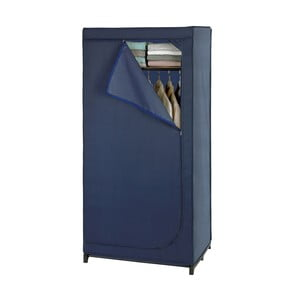 Modrá látková úložná skříň Wenko Business, 160 x 50 x 90 cm