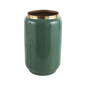 Zelená váza s detailem ve zlaté barvě PT LIVING Flare, výška 22 cm