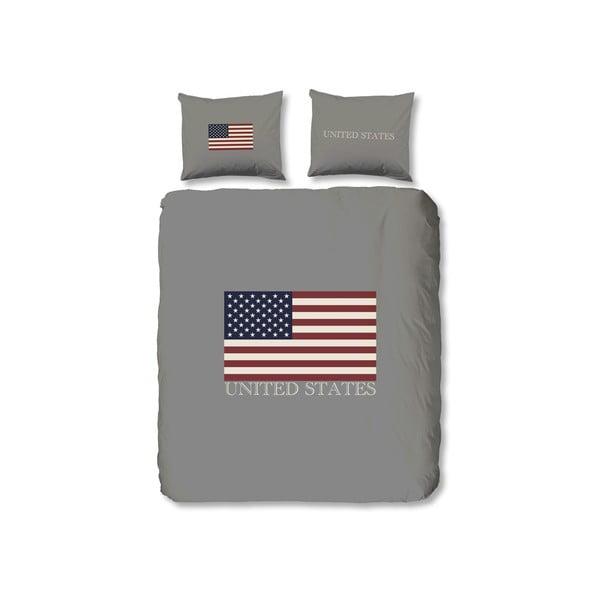 Povlečení USA, 240x200 cm, šedé