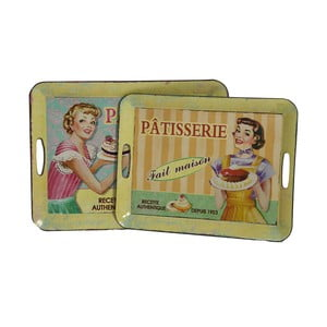Sada 2 retro podnosů Patisserie