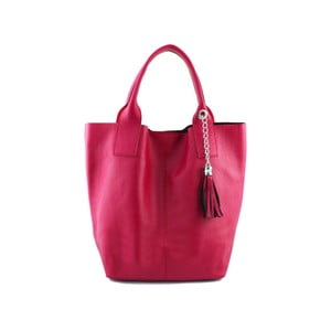 Fuchsiová kabelka z pravé kůže GIANRO' Rulette