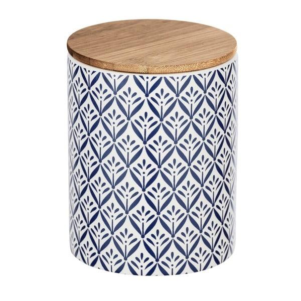 Cutie depozitare din ceramică cu capac din bambus Wenko Lorca, 950 ml