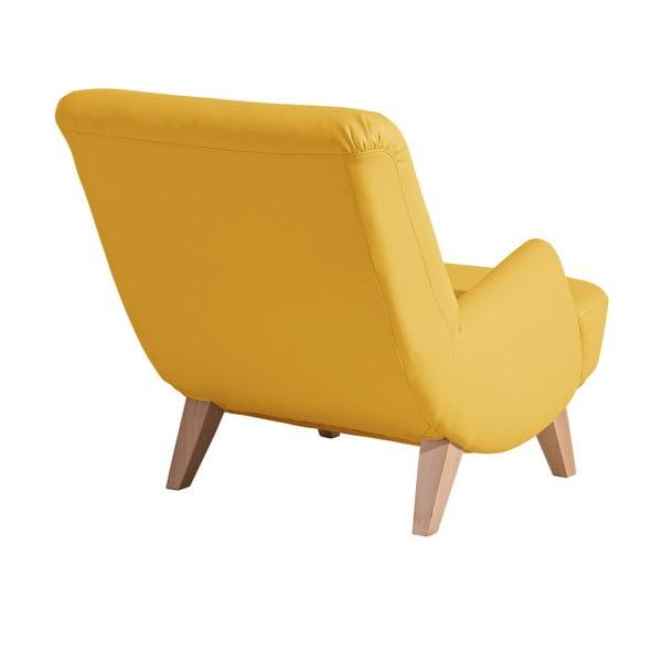 Žluté koženkové křeslo Max Winzer Brandford