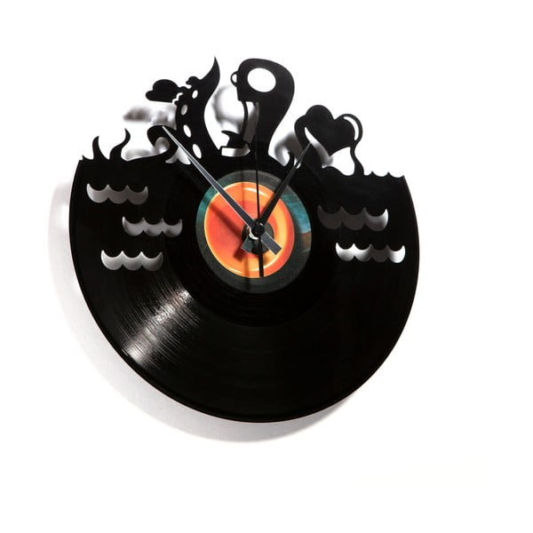 Vinylové hodiny Underwater Love