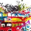 Christian Kroj London, 70x70 cm