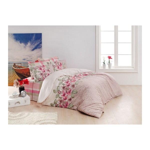 Lenjerie de pat cu cearșaf din bumbac Sierra, 200 x 220 cm