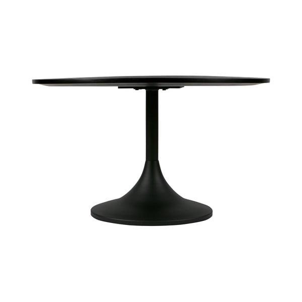 Černý kovový odkládací stolek WOOOD Bowie, ⌀ 70 cm