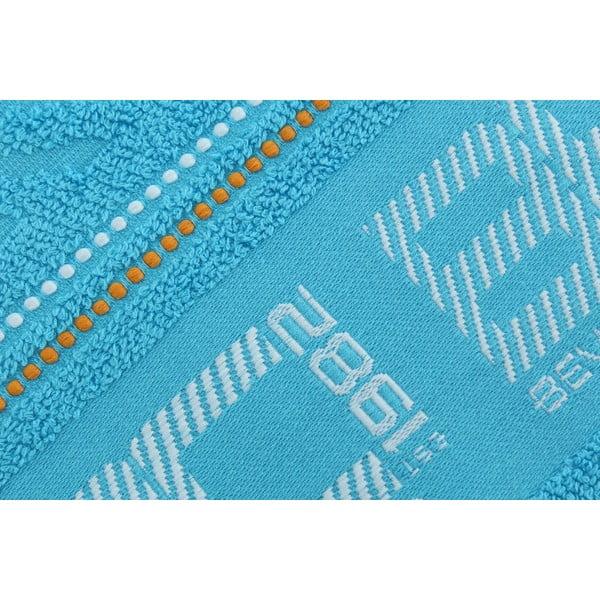 Pastelově modrý bavlněný ručník BHPC, 50x100 cm