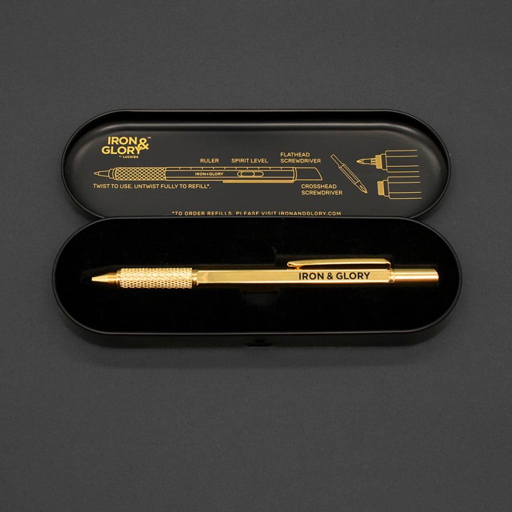 Pero ve zlaté barvě včerném pouzdře Luckies of London