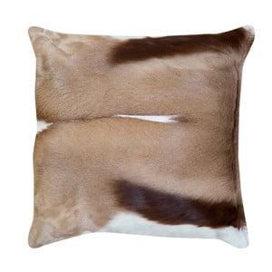 Béžový polštář z gazelí kůže Pipsa Piece, 45x45cm