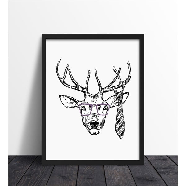 Zarámovaný plakát We Love Home Hipster Deer, 40x50cm