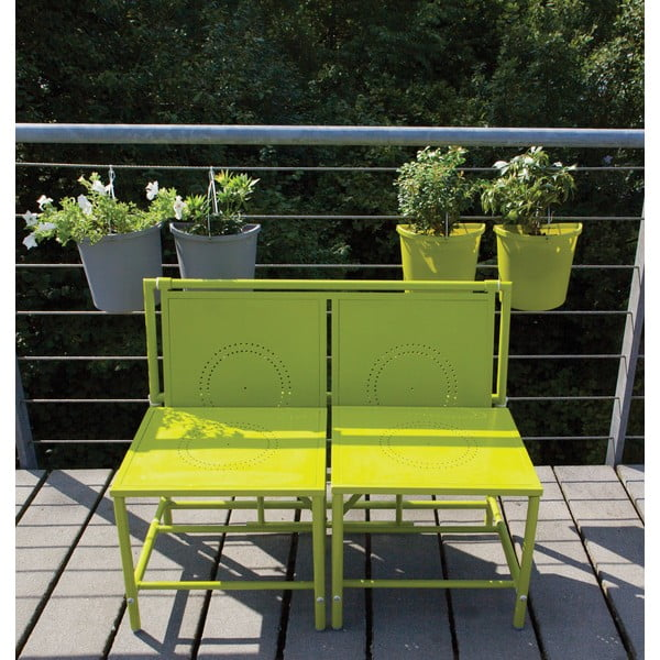 Zelená skládací sestava na balkón Esschert Design Magic