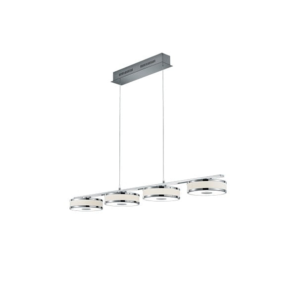 Lustră LED Trio Agento, lungime 1,15 m, argintiu
