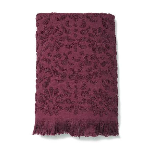Sada 2 vínových bavlněných ručníků Casa Di Bassi Riad, 50x90cm