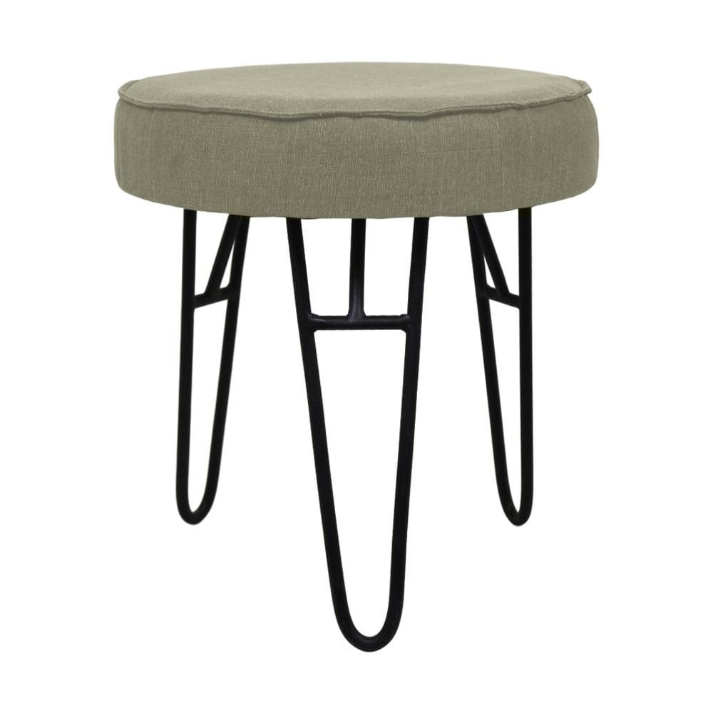 Zelená stolička s látkovým potahem HSM collection Kruk