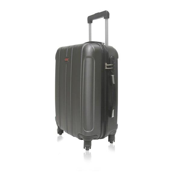 Tmavě šedý cestovní kufr na kolečkách Hero Fogo, 60 l