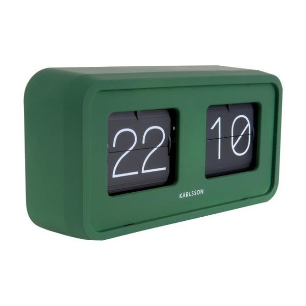 Zelené stolní hodiny Karlsson Bold Flip