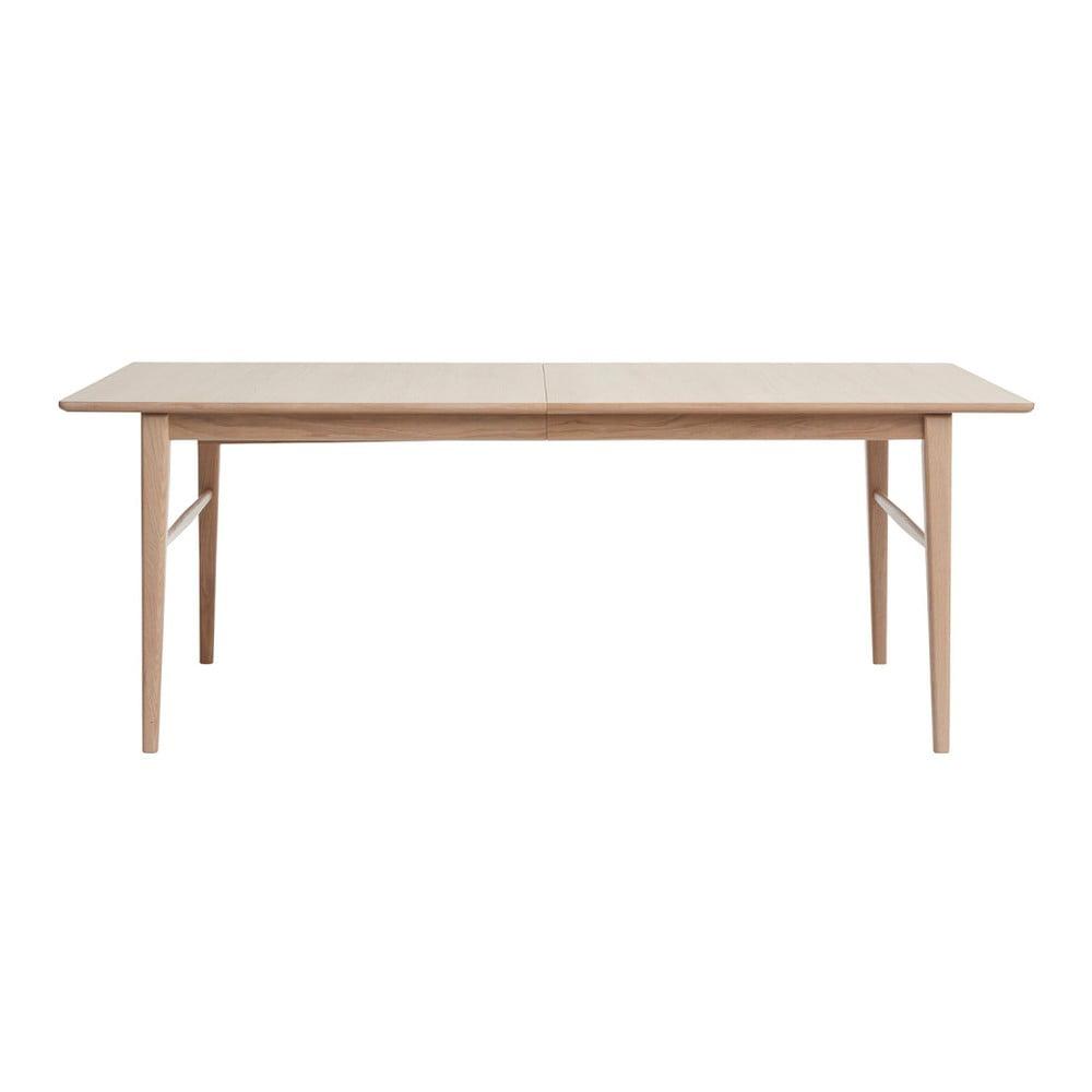 Rozkládací jídelní stůl ze dřeva bílého dubu Unique Furniture Rocca, 90 x 170/260 cm