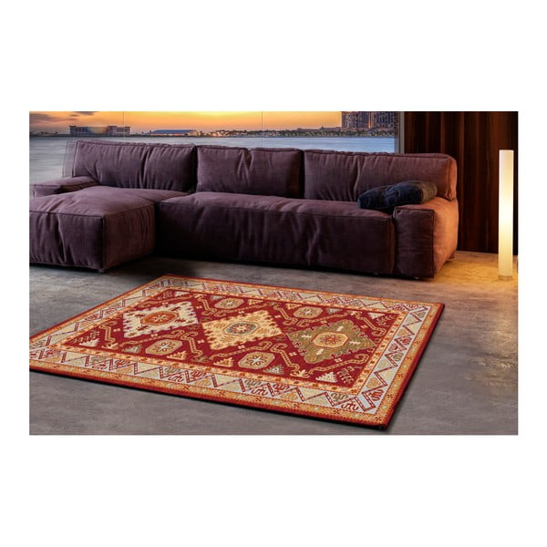 Červenobéžový koberec Universal Khalil Red, 190x280cm