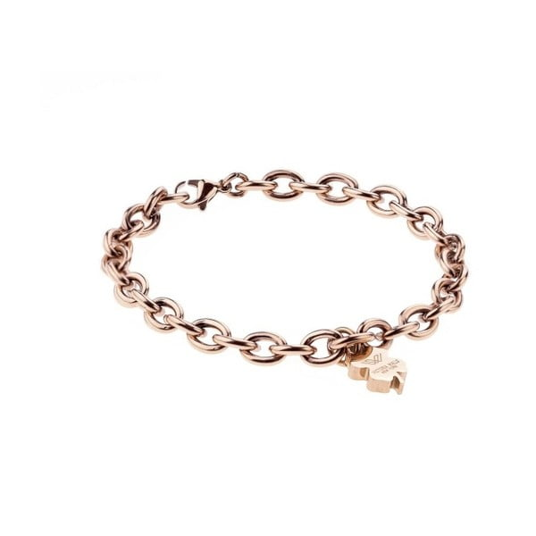 Brățară metalică de damă Victoria Walls Unchained, roz auriu