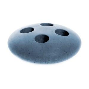 Modrý betonový stojan na kartáčky Iris Hantverk