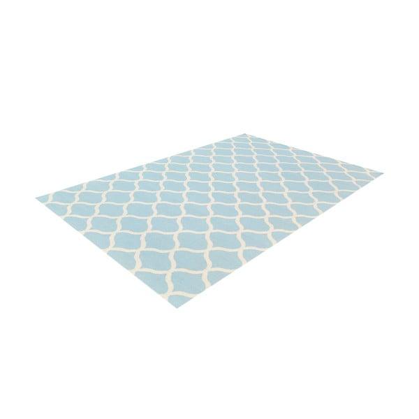 Světle modrý vlněný koberec Bakero Alize, 140x200cm