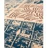 Vlněný koberec Coimbra no. 172, 67x200 cm, modrý