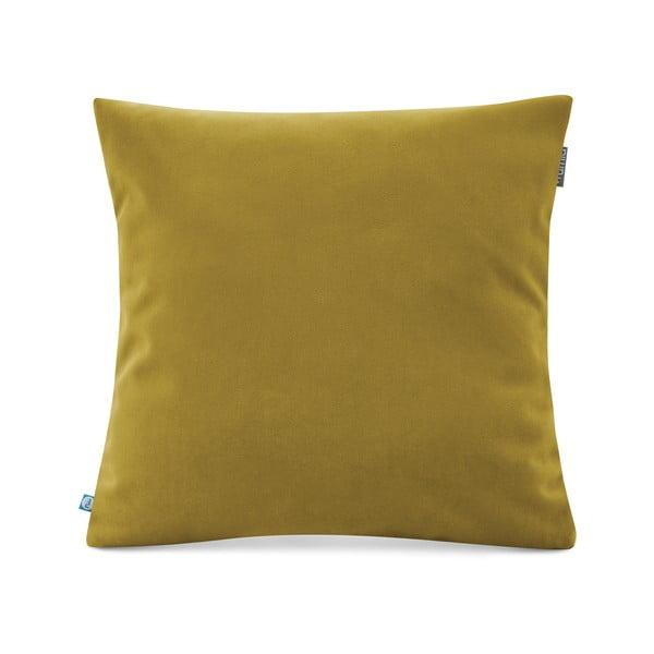 Žlutozelený povlak na polštář se sametovým povrchem Mumla Velvet, 45 x 45 cm