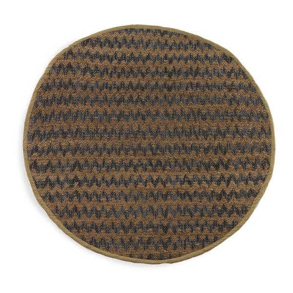 Modro-hnědý koberec Geese Mumbai, Ø 120 cm