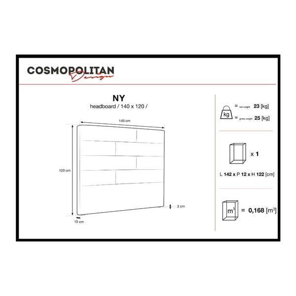 Krémově bílé čelo postele Cosmopolitan Design New York, šířka 140cm
