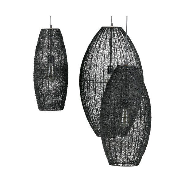Černé závěsné svítidlo De Eekhoorn Creative, ⌀30cm