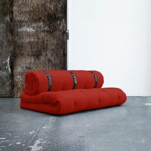 Variabilní pohovka s bíle prošívanými koženými pásky Karup Buckle Up Red
