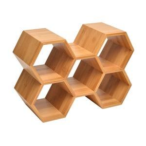 Stojan na lahve z bambusového dřeva Le Studio Honeycomb Bottle Rack