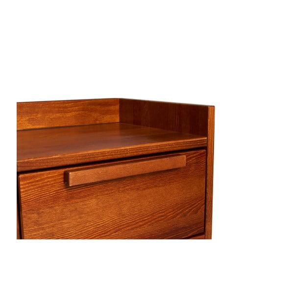 Noční stolek z masivního borovicového dřeva SKANDICA Agava Dark