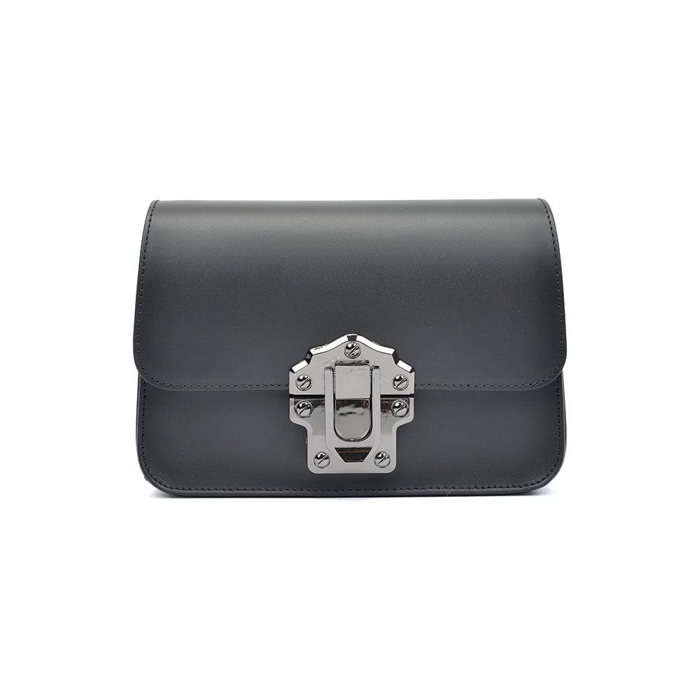 Černá kožená kabelka Roberta M Estelle