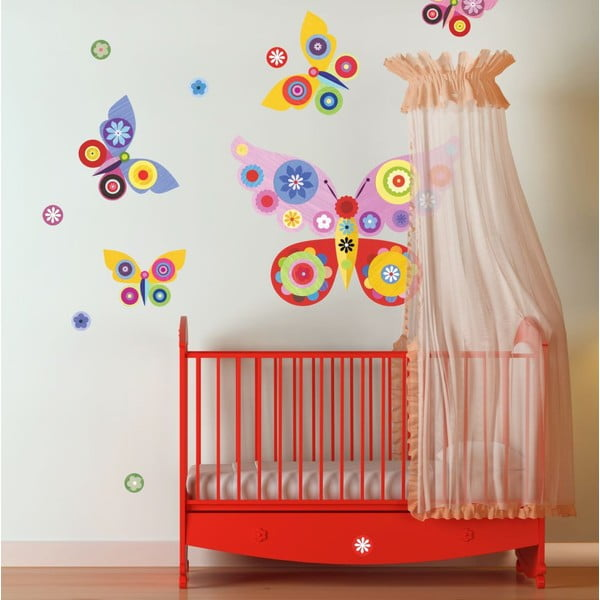 Samolepka Pink Butterflies Medium