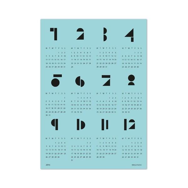 Nástěnný kalendář SNUG.Toy 2016, modrý