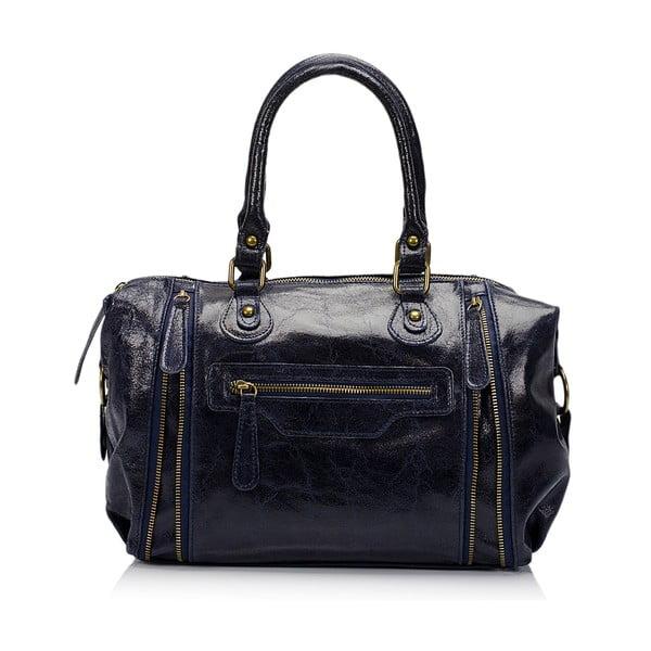 Kožená kabelka Kiara, modrá