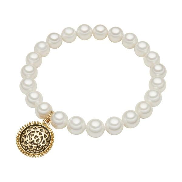 Náramek s bílou perlou ⌀8 mm Perldesse Eve, délka18cm