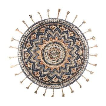 Covor artizanal Dutchbone Pix, Ø 170 cm de la Dutchbone
