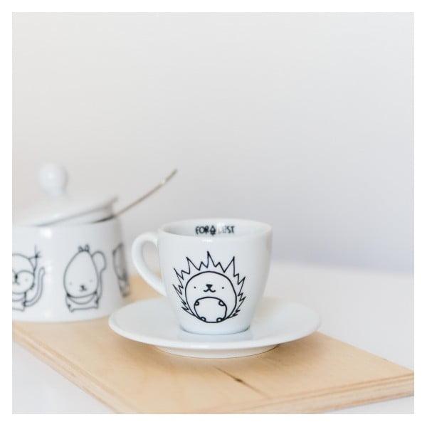 Hrnek na espresso s podšálkem Hedgehog, 100 ml