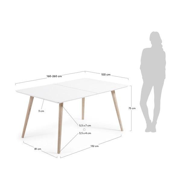 Rozkládací jídelní stůl La Forma Quatre, délka160-260cm