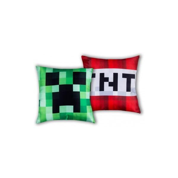 Dětský oboustranný polštář Halantex Minecraft, 40 x 40 cm