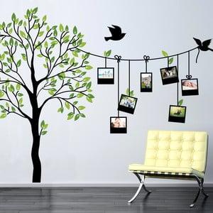 Samolepka na stěnu Wallvinil Rodinný strom s fotorámečky, 180x250 cm